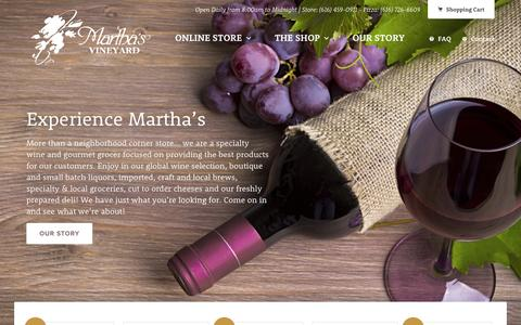 Screenshot of Home Page mvwines.com - Martha's Vineyard - captured Sept. 6, 2015