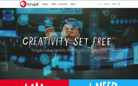 Screenshot of About Page tongal.com - Create Original Video Content - TV Ads, YouTube, Branded & Social Videos - captured Oct. 26, 2015