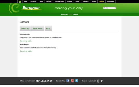 Screenshot of Jobs Page europcar-abudhabi.com - Europcar Abu Dhabi - Current Positions - captured Sept. 23, 2014