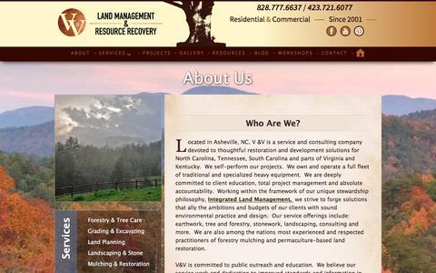 Screenshot of About Page voglerllc.com - About Us | V & V Land Management | Asheville - captured Oct. 18, 2017