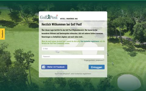 Screenshot of Login Page golfpost.de - Herzlich Willkommen bei Golf Post! - captured Nov. 5, 2018