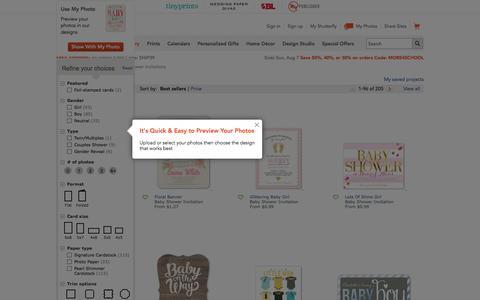 Baby Shower Invitations | Custom Baby Shower Invites | Shutterfly