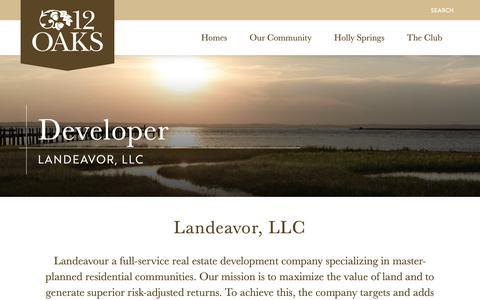 Screenshot of Developers Page 12oaksnc.com - Developer - 12 Oaks - captured Oct. 18, 2018