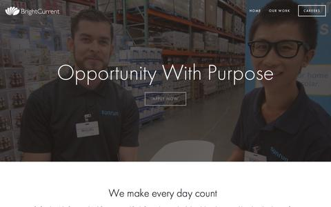 Screenshot of About Page brightcurrent.com - Careers — BrightCurrent - captured June 3, 2017