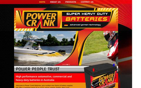 Screenshot of Home Page powercrank.com.au - Heavy-Duty Batteries | Coburg | Power Crank Batteries - captured Jan. 23, 2016