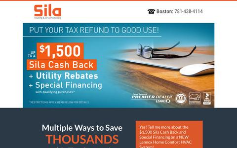 Screenshot of Landing Page sila.com - Heating|Cooling System Rebates With Special Financing - captured Feb. 12, 2017
