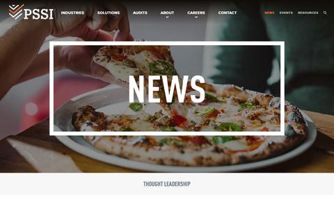 Screenshot of Press Page pssi.com - News - PSSI - captured Jan. 18, 2019