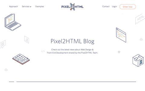 Screenshot of Blog pixel2html.com - Pixel2HTML Blog - Pixel2HTML - captured July 19, 2018