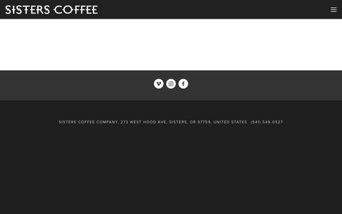 Screenshot of Jobs Page sisterscoffee.com - JOBS — Sisters Coffee Company - captured Dec. 1, 2016