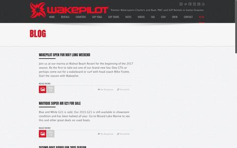 Screenshot of Blog wakepilot.com - Board Blog | Wakepilot | Watersports News in  Osoyoos, British Columbia, Canada | Osoyoos Watersports - captured June 18, 2017
