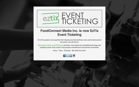 Screenshot of Testimonials Page foodconnectmedia.com - Event Ticketing | Food Events Calendar | Web Development | Mobile Sales Solutions - FoodConnect Media Inc. - captured Aug. 3, 2015