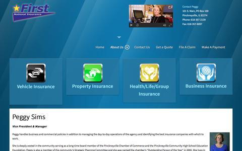 Screenshot of About Page insurepinckneyville.com - About Us - captured March 24, 2016
