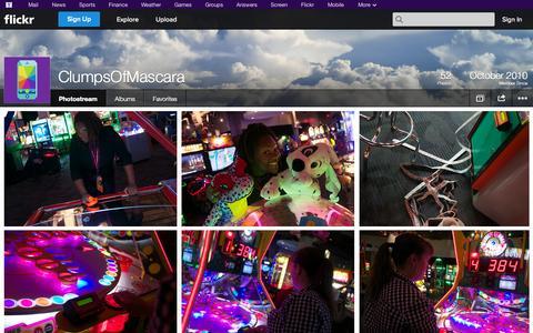 Screenshot of Flickr Page flickr.com - Flickr: ClumpsOfMascara's Photostream - captured Oct. 22, 2014