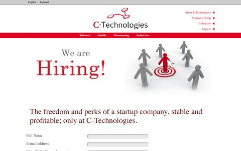 Screenshot of Jobs Page consulting-technologies.com - Careers at C-Technologies - captured Oct. 1, 2014