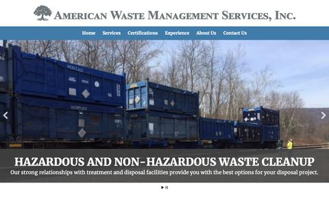 Screenshot of Home Page awmsi.com - American Waste Management Services - captured Oct. 3, 2018