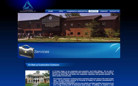 Screenshot of Services Page tristatedesign.net - Tristate-Design - Our Services - captured Oct. 9, 2014