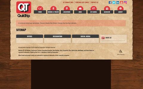 Screenshot of Site Map Page quiktrip.com - QuikTrip Sitemap - captured June 23, 2018