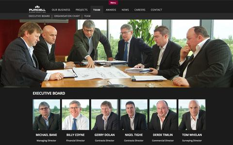 Screenshot of Team Page purcell.ie - Executive Board | Purcell Construction - captured Nov. 2, 2014