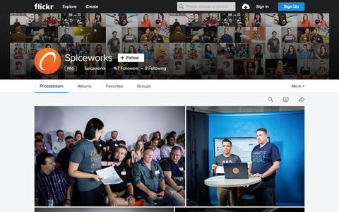 Screenshot of Flickr Page flickr.com - Spiceworks | Flickr - Photo Sharing! - captured Oct. 1, 2015