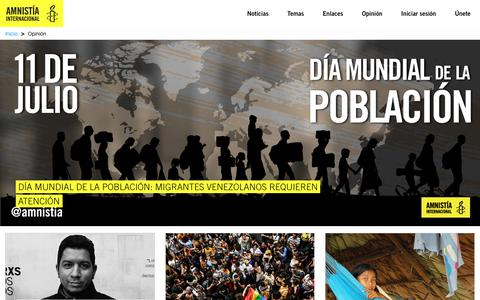 Screenshot of Blog amnistia.org - Opinión | Amnistia Internacional | Venezuela - captured July 11, 2018