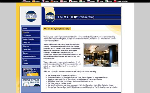 Screenshot of About Page the-mystery-partnership.com - The MYSTERY Partnership - About Us - Who are the Mystery Partnership - captured Sept. 30, 2014