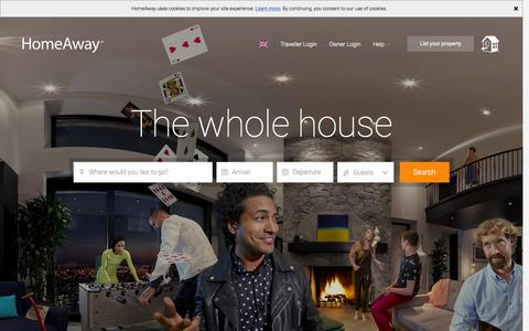 Screenshot of Home Page homeaway.co.uk - HomeAway - Holiday Lettings, Villas, Apartments & Cottages - captured Oct. 1, 2015