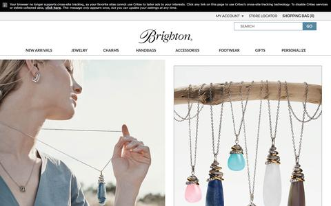 Screenshot of Home Page brighton.com - Women's Handbags, Jewelry, Charms for Bracelets & More | Brighton Collectibles - captured Sept. 23, 2018