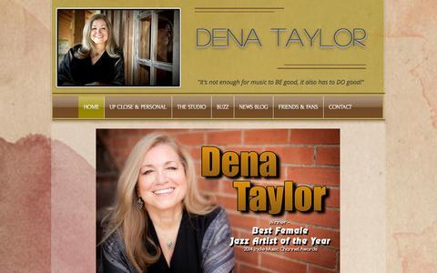 Screenshot of Home Page denataylor.info - Home of Jazz Singer, Dena Taylor (DenaTaylorMusic.com, Austin TX) - captured Oct. 5, 2014