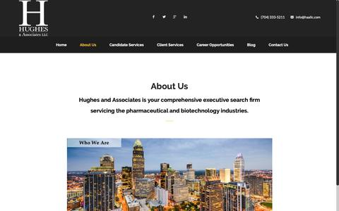 Screenshot of About Page haallc.com - Hughes and Associates - About Us - Executive Search Firm - captured Sept. 30, 2018