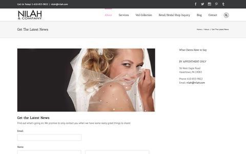 Screenshot of Signup Page nilah.com - Nilah & Company -   Get The Latest News - captured Feb. 17, 2016