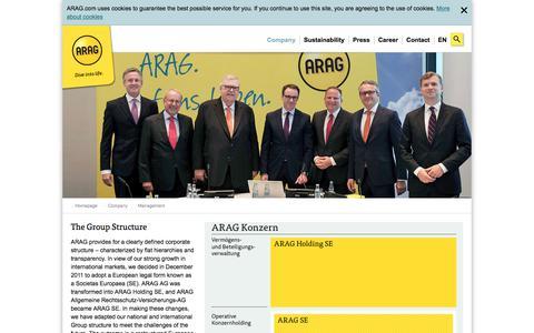 Screenshot of Team Page arag.com - Management - captured July 28, 2018