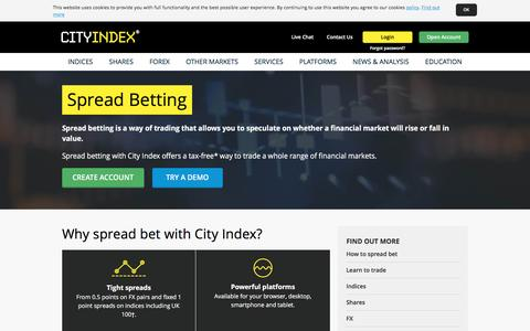 Spread Betting | Financial Spread Betting Tips & Guide | City Index