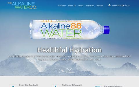 Screenshot of Home Page thealkalinewaterco.com - Home - Alkaline Water Company - captured Nov. 1, 2017