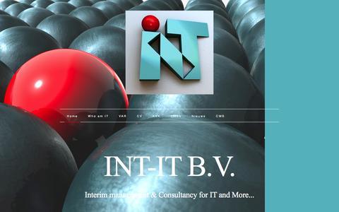 Screenshot of Home Page int-it.nl - INT-IT B.V. - captured Dec. 21, 2015