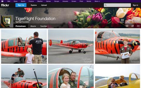 Screenshot of Flickr Page flickr.com - Flickr: TigerFlight Foundation's Photostream - captured Oct. 26, 2014