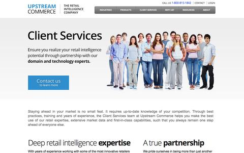 Screenshot of Services Page upstreamcommerce.com - Client Services   UpstreamCommerce - captured Sept. 17, 2014