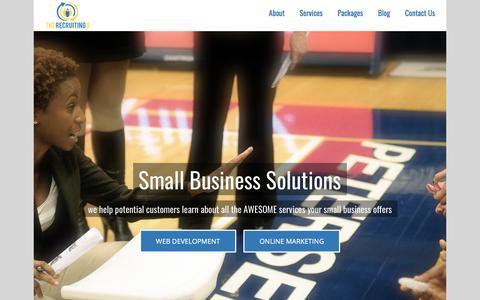 Screenshot of Home Page therecruitingu.com - The Recruiting U – We coach you through the X's and O's of online marketing success - captured Nov. 17, 2017