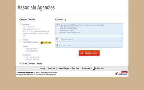 Screenshot of Contact Page surveyinginstrumentindia.com - Enquiry Form | Associate Agencies - captured Nov. 21, 2016