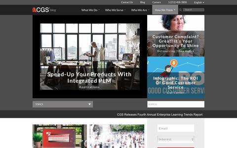 Screenshot of Blog cgsinc.com - CGS Official Blog | Application, Learning & Outsourcing Content - captured April 9, 2018