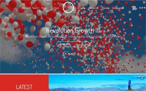 Screenshot of Home Page revolution.com - Revolution - captured Aug. 27, 2016