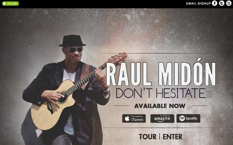 Screenshot of Home Page raulmidon.com - Raul Midón 'Eclectic Adventurist' Soul Singer Songwriter Guitarist - captured Jan. 26, 2015