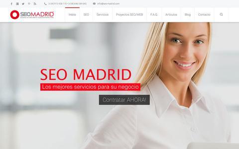 Screenshot of Home Page seo-madrid.com - Agencia SEO Madrid ⊛ Posicionamiento Web ⊛ SEO Garantizado 100% - captured July 11, 2018