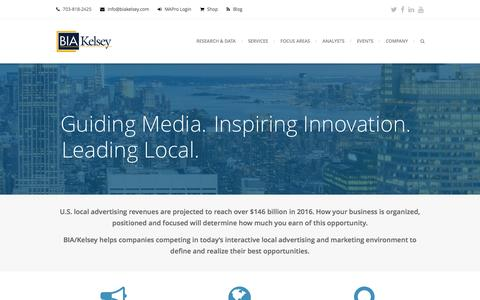 Screenshot of Home Page biakelsey.com - Local Advertising and Marketing Insights, Analysis, Conferences - captured July 4, 2016
