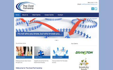 Screenshot of Home Page theovalpartnership.co.uk - The Oval Partnership Limited - captured Sept. 30, 2014