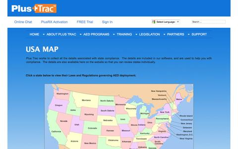 Screenshot of Maps & Directions Page en-proinc.com - State Map - captured Jan. 29, 2016