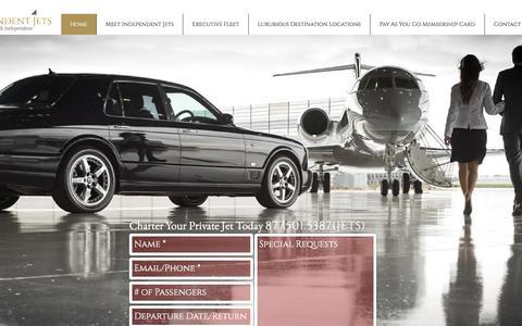 Screenshot of Home Page independentjets.com - independentjets.com - captured Sept. 13, 2018
