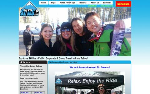 Screenshot of Home Page bayareaskibus.com - Bay Area Ski Bus | Ski & Snowboard Trips to Lake Tahoe - captured Sept. 30, 2014