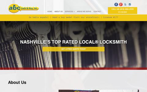 Screenshot of About Page 456lock.com - About Us - Abc Lock & Key Inc - captured Oct. 2, 2018