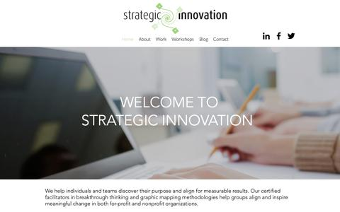 Screenshot of Home Page stratinnovation.com - Home | Strategic Innovation - captured Oct. 18, 2018