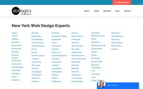 Screenshot of Locations Page dotlogics.com - Dotlogics - New York Experts, Web Designers Brooklyn - captured May 12, 2017